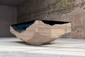 topography coffee table coffee table made of layered glass to resemble the depths of the ocean