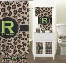 granite leopard shower curtain personalized potty training