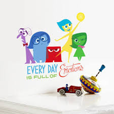 Kid Room Wall Decals by 2017 Cartoon Inside Out Riley Diy Vinyl Wall Stickers For Kids