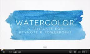Watercolor Powerpoint Template By 83munkis Graphicriver Powerpoint Theme