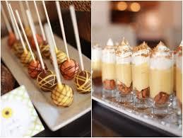 fall event dessert buffet cake pops banana pudding cups