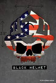 American Flag Skull American Flag Old Glory Skull Logo Helmet Decal Black Helmet