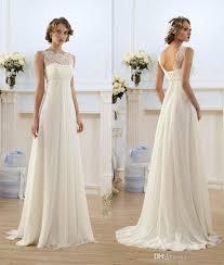 2015 corset chiffon a line empire high waist wedding dresses lace - High Waist Wedding Dress
