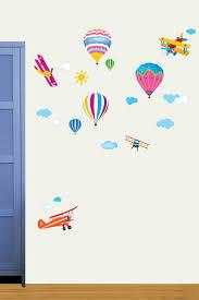 9 best calcomanias fluorescentes images on pinterest wall vente ambiance l esprit deco 11727 enfant sticker montgolfiere multicolore