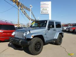 blue jeep 2 door 2012 winter chill pearl jeep wrangler sahara arctic edition 4x4