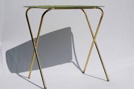 tv table tray table set folding tables w retro fiberglass trays