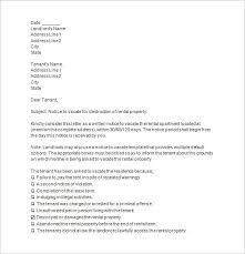 move out letter template landlord tenant notices rental property