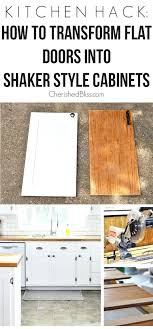 how to turn flat cabinet doors into shaker style convert cabinet doors to shaker style www resnooze com