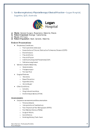 Example Of References On Resume by Clinical Portfolio Recordingtemplate 2