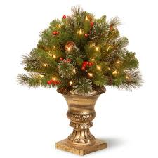 4 ft indoor outdoor pre lit artificial porch christmas tree with