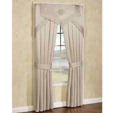 home accessories white curtains and cornice valance for window