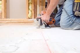 Basement Flooring Tiles With A Built In Vapor Barrier Prefab Subfloor Tiles Make Basement Flooring Easier