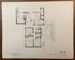 Eichler Homes Floor Plan 316 Original At Ucla Library Special Special Floor Plans