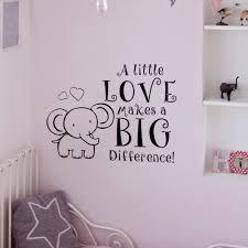 popular elephant wall decal nursery buy cheap elephant wall decal a little love makes a big difference elephant wall decal baby nursery vinyl bedroom sticker 40 6
