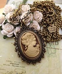 cameo antique necklace images Vintage jewelry 1900 39 s vintage cameo oval old antique bronze jpg