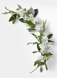 flower garland 4ft white hydrangea magnolia leaf garland