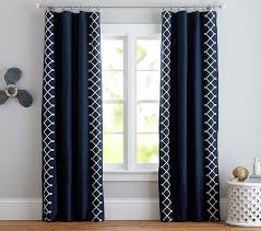 Alton Solid Grommet Window Curtain Panel Nautical Knots Blackout Panel Pottery Barn Kids