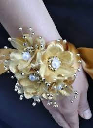 wrist corsages for homecoming wedding gold flower wrist corsage prom homecoming