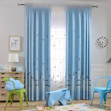 Castle Kids Room by 1 Piece Blue Star Castle Embroidered Kids Room Blinds White Sheer