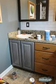 Painting A Bathroom Vanity Before And After by Art Is Beauty Budget Bohemian Bathroom Makeover Before And After