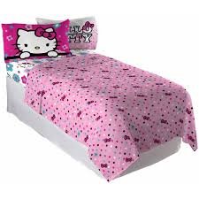 hello kitty floral ombre bedding sheet set walmart com