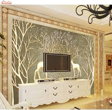 popular deer wall murals buy cheap deer wall murals lots from shinehome large custom forest tree deer 3d modern kids room photo wallpapers wall murals wahable