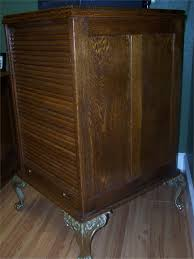 Antique Wood File Cabinets by Antique Oak Roll File Cabinet