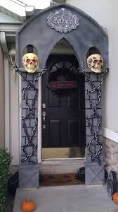 Homemade Halloween Props by Diy Halloween Arch Made Mostly Out Of Styrofoam And Only A Little
