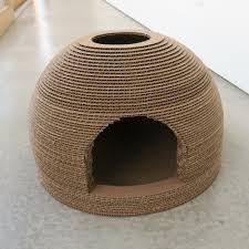Cat Scratchers Cardboard Pet Projects Cat Scratcher Bed House U2014 P3 Designwork