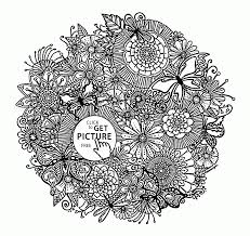 spring flowers pattern coloring page for kids seasons coloring