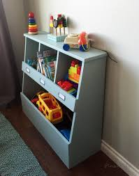 Wooden Toy Box Plans by Ana White Toy Storage Bin Box With Cubby Shelves Diy Projects