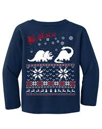 sweater dinosaur t shirt and santa claus