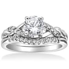 engagement and wedding ring set engagement rings for less overstock