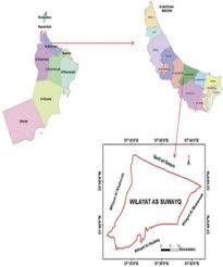 Map Of Oman Location Map Of Al Suwaiq Wilayat Al Batinah Oman Figure 1 Of 1