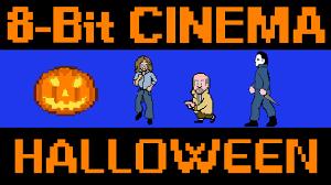 the horror movie u0027halloween u0027 retold as an old 8 bit