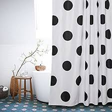 Grey And White Polka Dot Curtains Amazon Com Shower Curtain Hq Black And White Polka Dot Shower