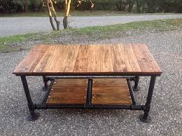 Diy Pallet Wood Distressed Table Computer Desk 101 Pallets by How To Make A Steel Pipe Table Google Search Furniture