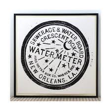 new orleans water meter new orleans watermeter drain cover linocut print wall
