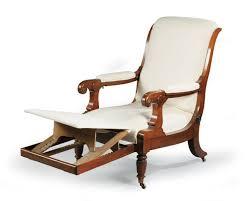 fauteuil de malade fauteuil de malade à dossier renversé inclinable en acajou et placage