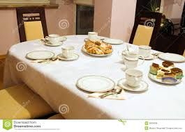 Set The Table Set Table For Tea And Coffee Time Royalty Free Stock Images