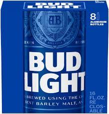 Bud Light Aluminum Bottle Bud Light Beer 8 Pack Hy Vee Aisles Online Grocery Shopping