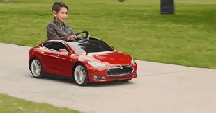 rich kids in tiny tesla model s ride ons will now be looking down