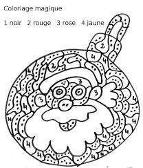 Coloriage Magique De Noel Cp Ce1 Coloriage Magique Pere Noel Cp