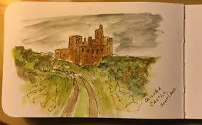 a quick sketch of crichton castle thetravelsketcher