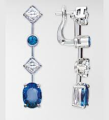 chaumet earrings chaumet blue or royal blue chagne gem