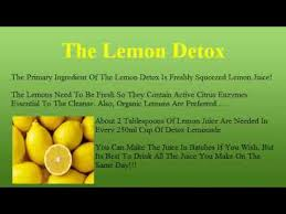 the lemon detox diet how to make the lemonade youtube