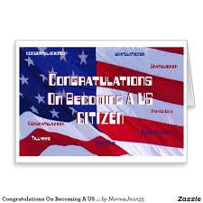 citizenship congratulations card congratulations on becoming a us citizen card new u s citizen