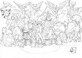 draw all pokemon coloring pages 87 with additional to download