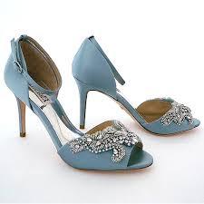 Wedding Shoes Blue Badgley Mischka Shoes Barker Beaded Bridal Shoes Blue Radiance