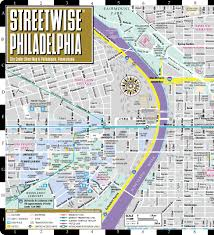 Philadelphia Neighborhood Map Streetwise Philadelphia Map Laminated City Center Street Map Of